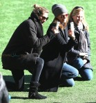 Gisele Bundchen and son Benjamin meet up with Tom Brady's ex-wife Bridget Moynahan and attend son Jack's soccer game in New York City