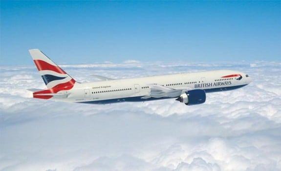 British Airways flight Boeing 777