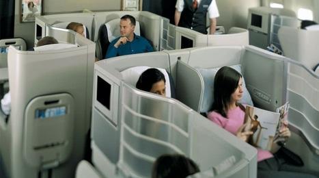 British Airways flight Boeing 777 Business Class