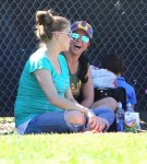 Britney Spears and pregnant Victoria Prince at son Jayden James' soccer game