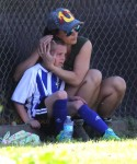 Britney Spears with son Jayden James at his soccer game