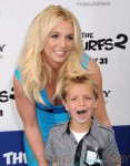 Britney Spears with son Sean P at the Smurfs 2 Premiere