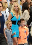 Britney Spears with sons Jayden & Sean at the Smurfs 2 Premiere