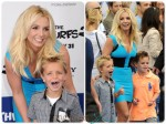 Britney Spears with sons Sean and Jayden at the Smurfs 2 premiere in LA