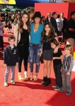 Brooke Burke with kids Neriah, Sierra and Shaya at the premiere of the LEGO Movie