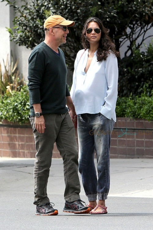 Bruce Willis and his pregnant wife Emma Heming out in LA