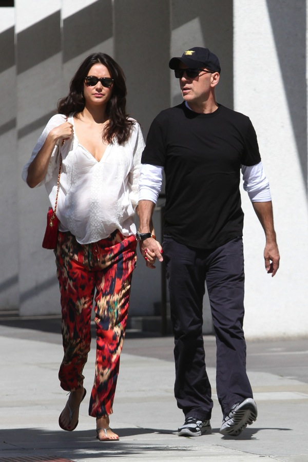 Bruce Willis Out With Pregnant Wife Emma Heming Growing