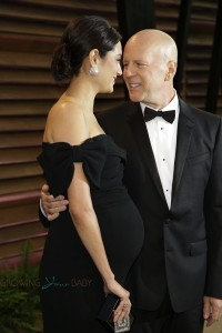 Bruce Willis with pregnant wife Emma Heming at Vanity Fair party 2014