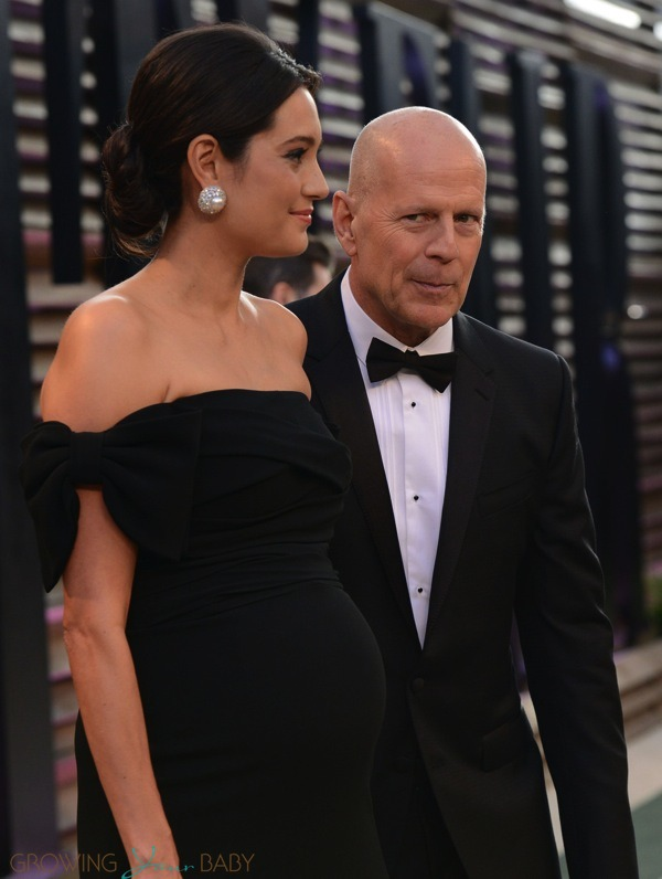 Bruce Willis With Pregnant Wife Emma Heming Attend Vanity