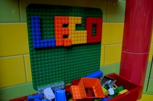 Building on the wall at the Disney Junior and DUPLO Magic of Play Tour
