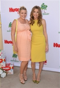 Busy phillips and Sarah Chalke at the Baby2Baby event in LA