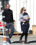 Cacee Cobb & Donald Faison out christmas tree shopping with son Rocco