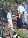 Cacee Cobb and Donald Faison attend Jessica Simpson's 4th of July Barbeque