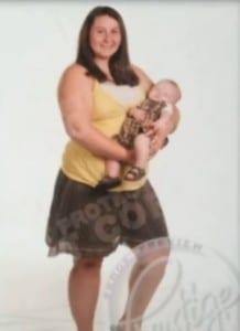 Caitlin Tiller with son Leelin