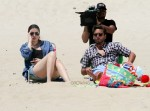 Cameras Roll while the Kardashians relax on the beach