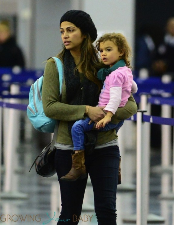 Camila Alves at LAX with daughter Vida