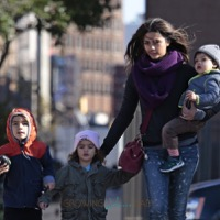 Camila Alves Steps Out In NYC With Her Kids