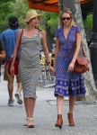 Candice Swanepoel & a pregnant Doutzen Kroes out in NYC
