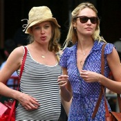 Doutzen Kroes Lunches With Friends in NYC