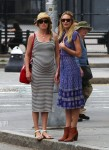 Candice Swanepoel & a pregnant Doutzen Kroes step out in NYC