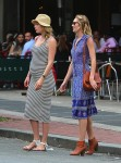 Candice Swanepoel and a pregnant Doutzen Kroes out in NYC