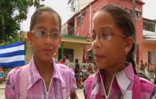 Carla and Camila, Twins in Havana, Cuba