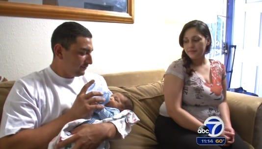 Carlos and Tenisha Urrutia with son Marcello