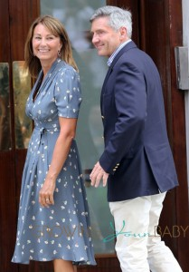 Kate Middleton's parents, Carol and Michael Middleton seen arriving at St
