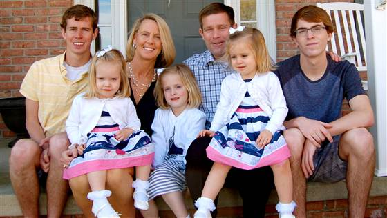 Carolyn Savage and her family