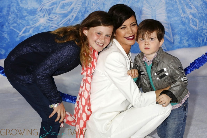 Catherine Bell with daughter Gemma and son Ronan attend the Disney's 'Frozen' Los Angeles ...