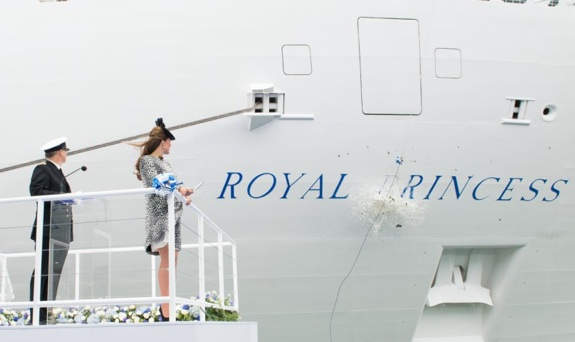 Catherine Middleton, Christens Royal Princess