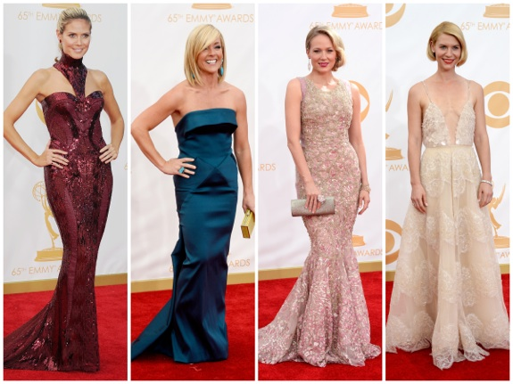 Celebrity Moms on the red carpet at the 65th annual Emmy Awards
