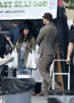 Channing Tatum and Jenna Dewan-Tatum at the market with their daughter Everly