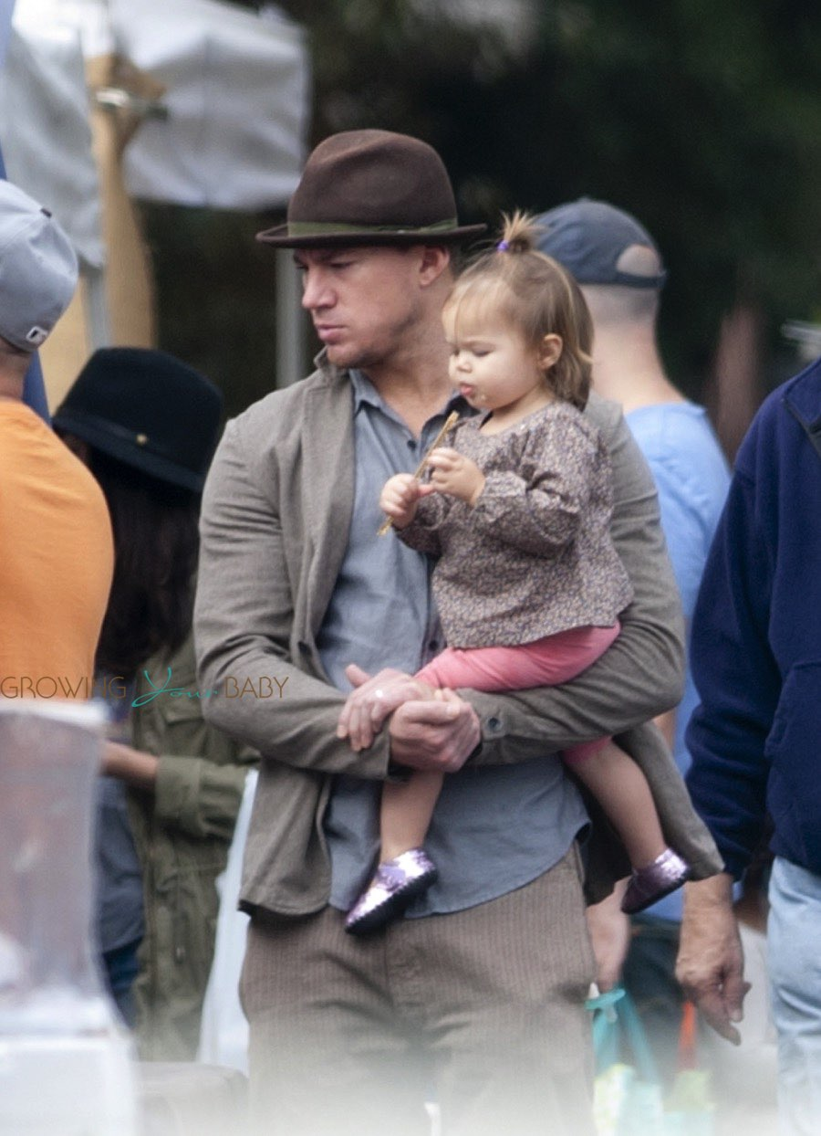 Channing Tatum at the market with his daughter Everly ...