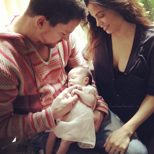 Channing and Jenna Tatum Show Off Baby Everly
