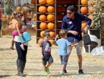 Charlie Sheen & Denise Richards with Eloise and Bob & Max Sheen at the Pumpkin Patch in LA
