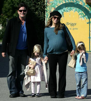 Charlie Sheen takes out his family, LA