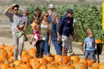 Charlie Sheen and Denise Richards with Eloise and Bob & Max Sheen at the Pumpkin Patch in LA