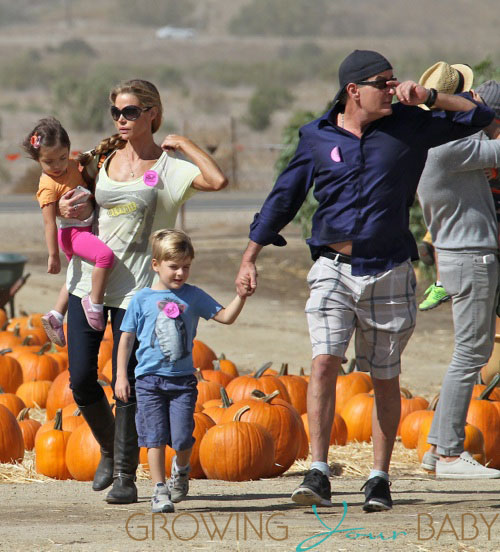 Charlie Sheen And Denise Richards With Eloise And Bob