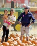 Charlie Sheen and Denise Richards with Eloise at the Pumpkin Patch in LA