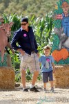 Charlie Sheen with his son at the pumpkin Patch in LA