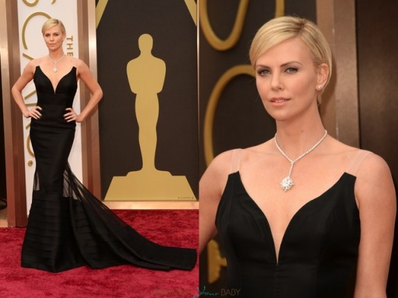 Charlize Theron Red carpet 86th annual Academy Awards