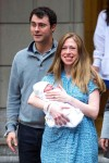 Chelsea Clinton and her husband Marc Mezvinsky with daughter Charlotte