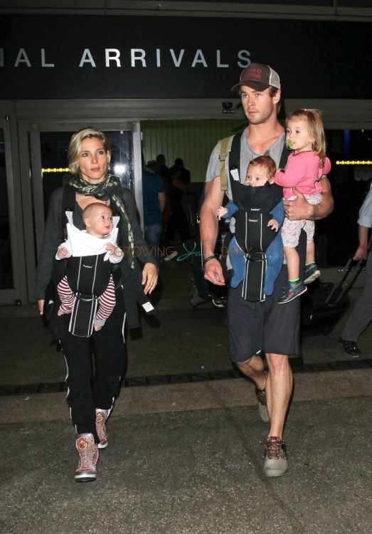 Chris Hemsworth and Elsa Pataky with kids Sons Tristan, Sasha and India