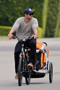 Chris Hemsworth with daughter India out in LA