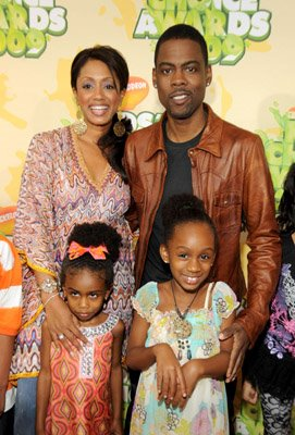 Chris Rock, wife Malaak Compton with daughters Lola Simone and Zahra Savannah nickelodeon