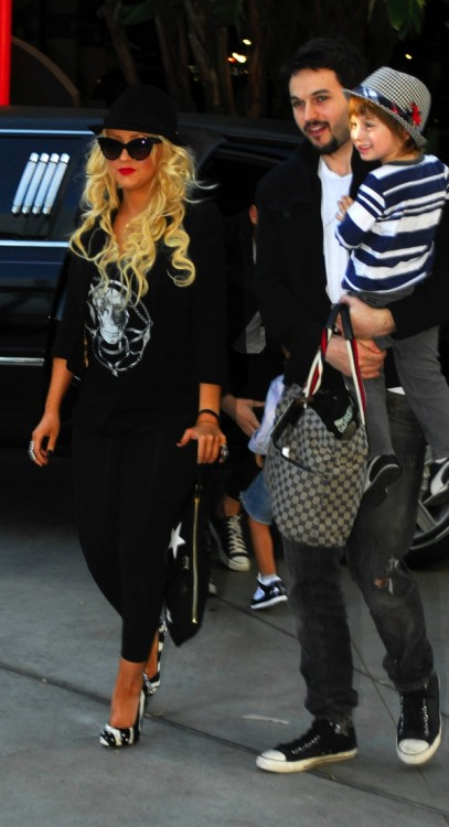 Christina Aguilera Matt Rutler and son Max Bratman