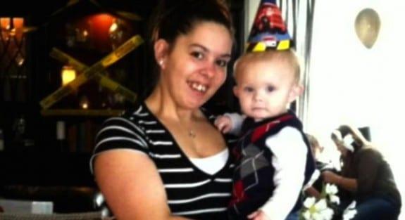 Christina Simoes with son Cameron