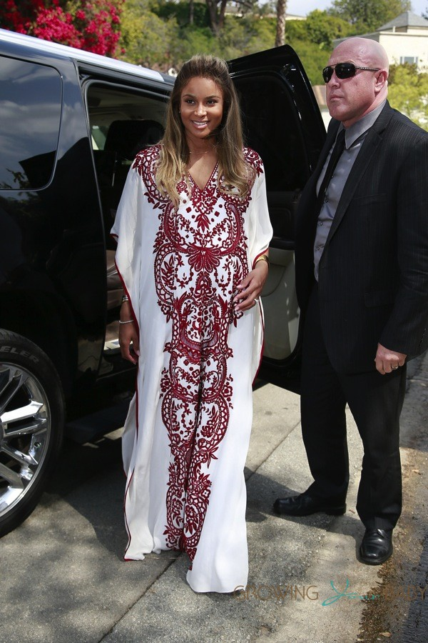 Ciara Arrives At Her Baby Shower