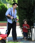 Colin Farrell Picks Up Son From School